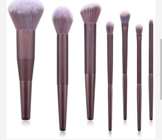 7pcs Elegant Purple brush set