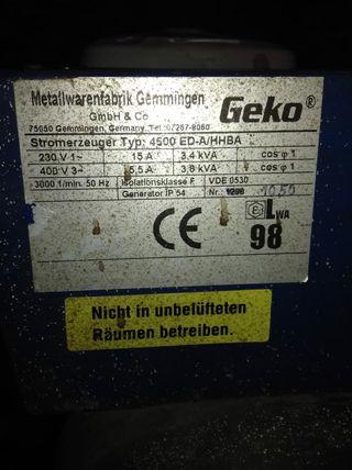 generador de corriente monofásico y trifasico