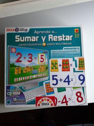 juego para aprender a sumar y restar