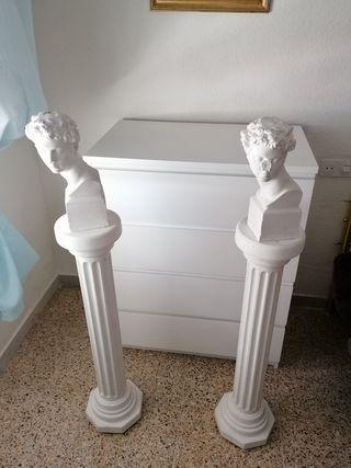 columnas escayola clásicas