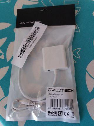 Owlotech Cable Adaptador HDMI/VGA Con Audio