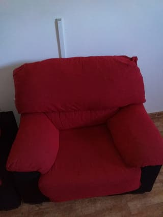 sillon sofa rojo