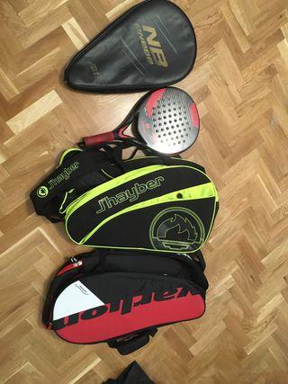 Padel mochilas y raqueta