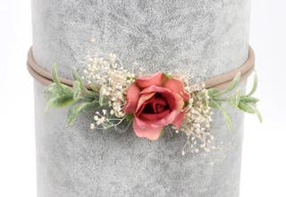 Rose Headband Handmade
