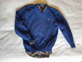 Lote jersey niño y camisa GANT (Talla 7-8 años)