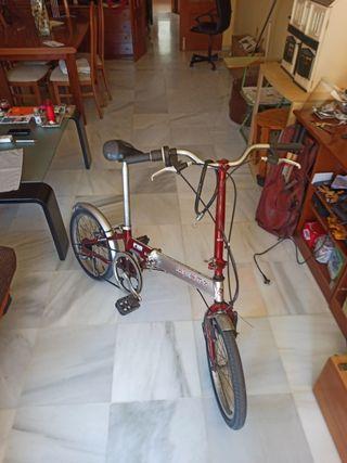 bicicleta monty plegable aluminio