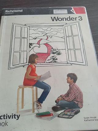 libro inglés 3 primaria wonder 3 activity book
