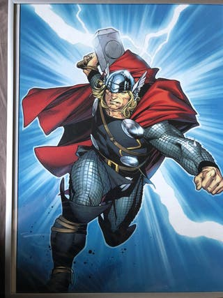 4 cuadros / marcos de superhéroes