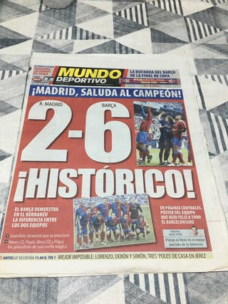 Diario periodico mundo deportivo 2-6