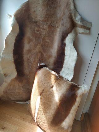 alfombras ,cojín piel