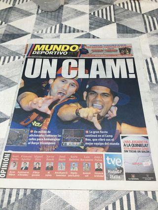 Diario periodico Mundo deportivo Campeones