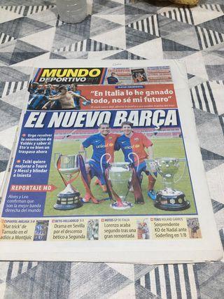 Diario periodico mundo deportivo Triplete