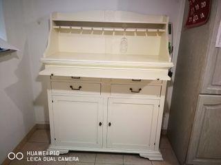 Armario alacena de cocina de madera lacada
