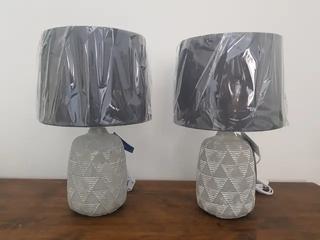 NUEVAS - Set de 2 lámparas sobremesa de cemento