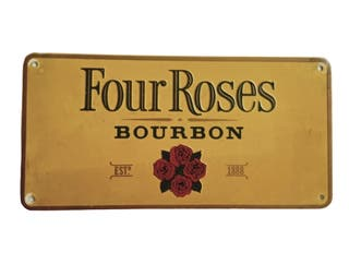 Placa chapa publicidad Four Roses Bourbon