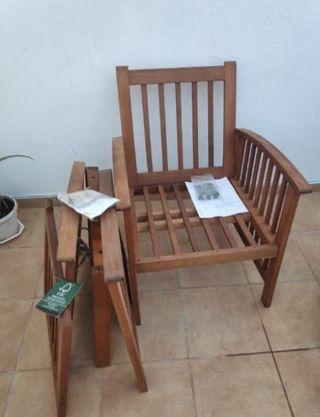 Dos sillas/bancos individuales jardín NUEVOS