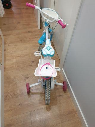 Bicicleta infantil niña de Frozen