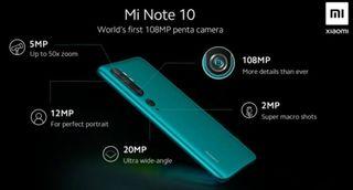Note 10 Xiaomi redmi