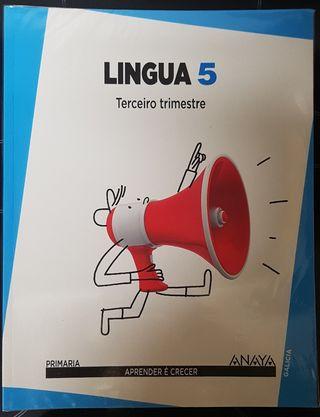 Libro LINGUA GALEGA 5° primaria ANAYA