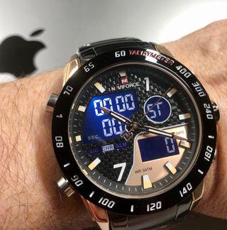 Reloj NAVIFORCE negro/oro rosa
