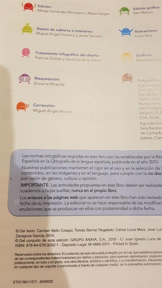 Libro LENGUA CASTELLANA 5° primaria ANAYA