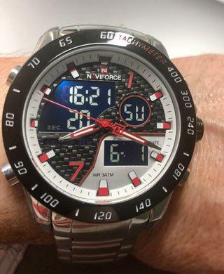 Reloj NAVIFORCE plata/rojo
