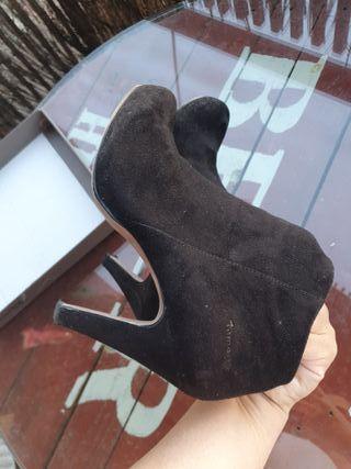 Botines de terciopelo mujer, color negro, t.40