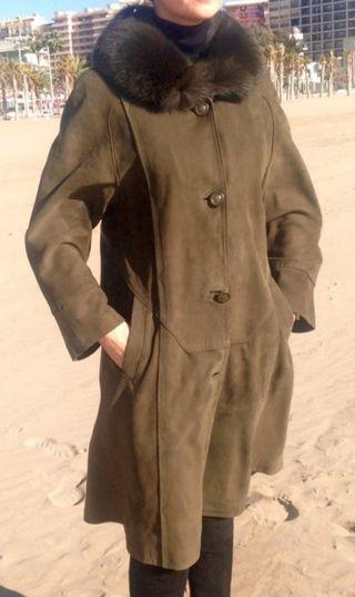 Abrigo de piel 100 %piel de ovino