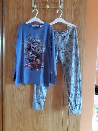 Pijama marvel talla 8/9 años