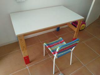 Mesa regulable a edad y silla niños