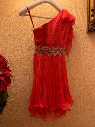 Vestido fiesta boda cocktail rojo