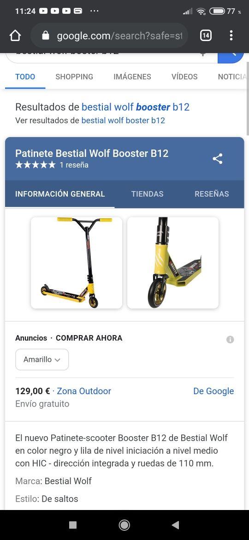 (rebajado)Patinete Bestial wolf booster b12