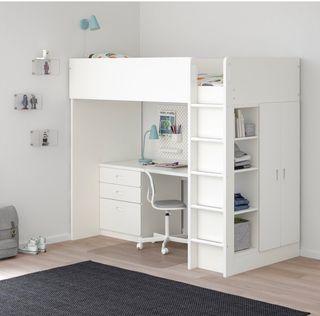 Cama alta + escritorio + armario - Ikea Stuva