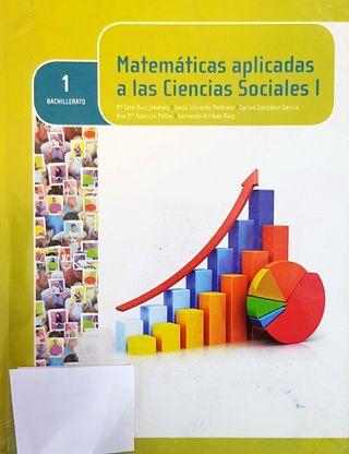Se vende libro de 1 bachiller de Matemáticas