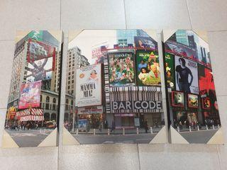 Conjunto de 3 cuadros Nueva York