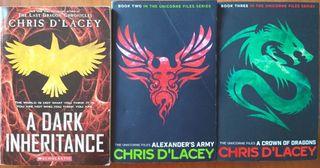 3 books; The unicorne files series