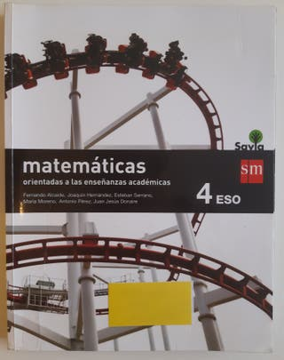 Libro Matemáticas 4°ESO sm