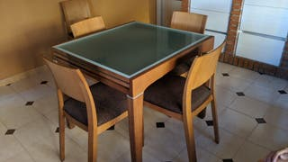 Mesa de comedor extensible 80x185