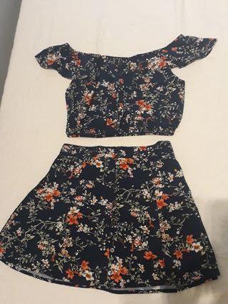 Conjunto falda + top XS nuevo