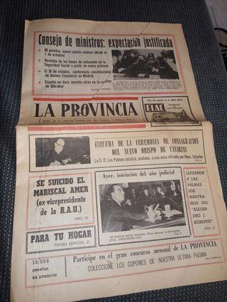 antiguo periódico las provincias año 1967