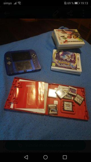 consola 2ds con juegos