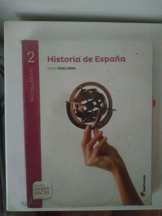 Libro de historia de España 2° Bachillerato