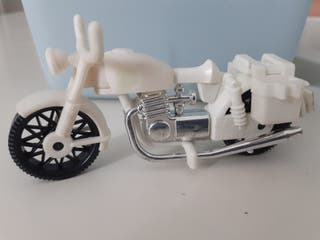 Playmobil moto vintage serie color blanco cromado