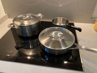 Bateria cocina acero inox como nueva