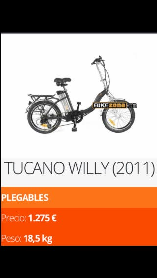 Bicicleta eléctrica TUCANO WILLY.