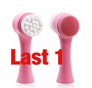 Double sided facial cleansing brush