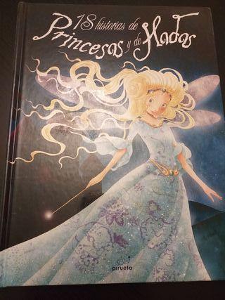 Libro 18 historias de princesas y hadas.