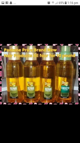 x4 Pantene Hair Oils
