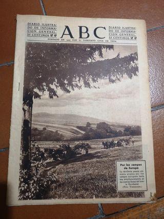 Periódico ABC Por los campos de Europa 1941