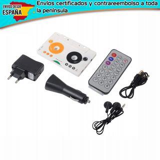 cassette adaptador a sd mmc mp3 reproductor